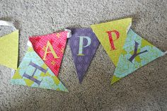 How to Make a Fabric Happy Birthday Banner (using a Cricut) - The Creative Mom