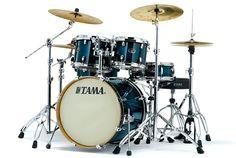 Tama Silverstar Drums: Transparent Blue Burst