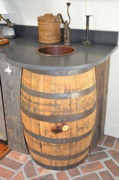 whiskey barrel sinks
