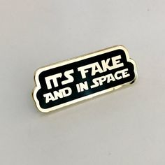It's Fake and in Space Star Wars Inspired Enamel Pin Image Positive, Harrison Ford, Hard Enamel Pin, Star Wars, Things To Come, Stars, Inspired, Etsy, Gift Ideas
