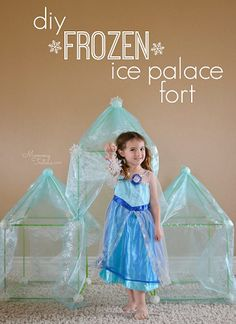 Have a Disney FROZEN lover? Make this super easy DIY Frozen Ice Palace. It's a cute fort and so much fun for any child who loves Frozen! The perfect spot for watching Disney FROZEN movie at home. Disney Frozen Castle, Disney Frozen Crafts, Diy Disney, Disney Frozen Party, Walt Disney, Frozen Birthday Party, Birthday Party Themes, 5th Birthday, Birthday Ideas