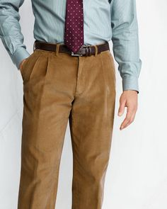 We recently Pinned a great men's outfit from an article in Buzzfeed and have been scouring the interwebs looking to recreate it! Here's the original Pin http://www.pinterest.com/pin/508836457870484278/ and here are similar pants. Still looking for larger whale Cords, but this is close :) Men's Pleat Front Traditional Fit 18-wale Corduroy Trousers from Lands' End