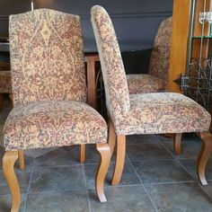 Crate and Barrel upholstered dining chairs. Set/6