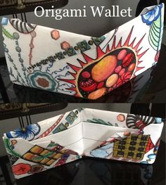 Tutorial on how to make an origami wallet is here: http://youtu.be/u_1jMH9cHjI