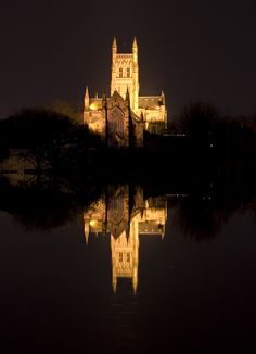 """breathtakingdestinations: """" Worcester Cathedral - England (by Dancing Storm) """""""