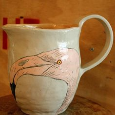 From Africa with Love Flamingo, Porcelain, Africa, Clay, Pottery, Ceramics, Love, Handmade, Collection