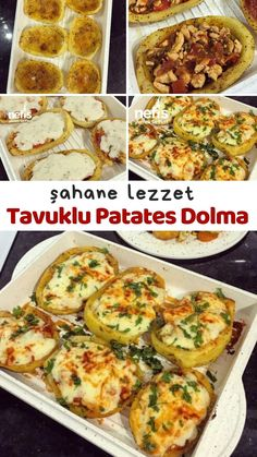 Tavuklu Patates Dolma – Nefis Yemek Tarifleri – Tavuk tarifleri – The Most Practical and Easy Recipes Chicken Pasta Recipes, Healthy Chicken Recipes, Salmon Recipes, Potato Recipes, Yummy Recipes, Dinner Party Recipes, Dinner Menu, Healthy Chicken Dinner, Stuffing Recipes