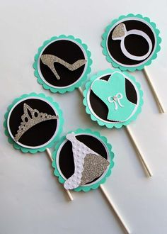 Breakfast at Tiffanys Inspired Cupcake toppers by TiffanyBlueStore, $13.00