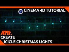 Cinema 4D - Creating Animated Icicle Christmas Lights Tutorial