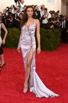 Irina Shayk in Atelier Versace. See all the looks from the 2015 Met gala.