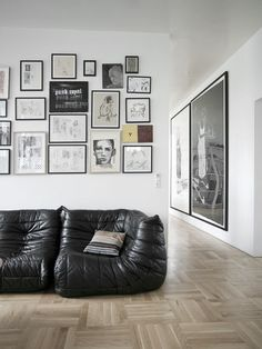 :: WALLS :: love the random order ... the ligne roset togo sofa is starting to grow on me #walls