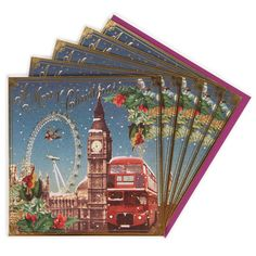 Vintage London charity Christmas cards - pack of 8