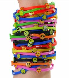 Shiki Emoji Bands have all the colors and Emoji's you love online when your ready to StackEm!  Shop--->https://shikibands.com   Get your stylish wristbands and start Stacking your emoji style.   #Emoji #friendship #wristbands #fashion #collectibles#kidsfashion #2015 #Live #Now #Brother #Sister #Great #Gift #Love #CoolKids