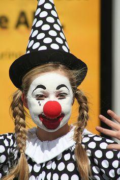 polka dot clown