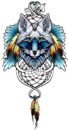 Dreamcatcher Tattoo by on DeviantArt Wolf Tattoo Design, Tattoo Designs, Small Tattoos With Meaning, Cute Small Tattoos, Celtic Tattoos, Wolf Tattoos, Animal Tattoos, Tatoos, Wolf Tattoo Traditional