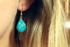 DIY Glitter and Clay Earrings tutorial