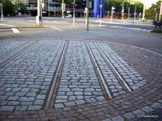 Dual-gauge railway in Karlsruhe, Germany :: Travel by Photography