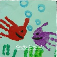 Vissen schilderen mbv handen