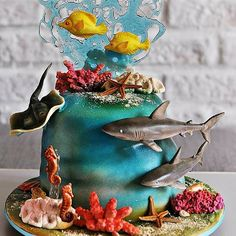 Seaworld Cake by Timbo Sullivan........For more info, Please visit: https://cakerschool.com/