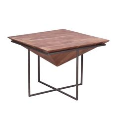Blending elements of industrial and modern styles, the Urban Industrial Wood and Iron Cocktail Table offers a striking look that complements any home or office. The eye-catching contrast of natural beauty within a sharp, angular metal frame gives thi Industrial Interior Design, Urban Industrial, Industrial Interiors, Industrial Style, Metal Furniture, Industrial Furniture, Furniture Design, Furniture Chairs, Iron Coffee Table