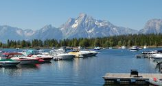 Jackson Lake Marina, Wyoming