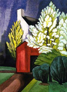 The Athenaeum - May Night (Oscar Bluemner - )