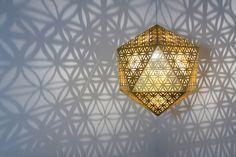 Sacred Geometry: Awe-Inspiring Lighting Design by Cozo - Inspiration Grid Yoga Studio Design, Geometry Art, Sacred Geometry, Geometry Tattoo, Yoga Inspiration, Design Inspiration, Origami Lamps, Science Drawing, Meditation