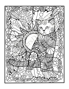 Cats Quilts Coloring Book
