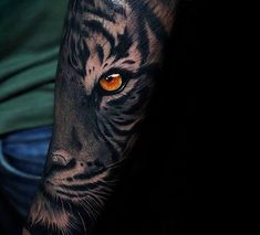 40 Tiger Eyes Tattoo Designs For Men - Realistic Animal Ink Ideas - Tattoo Portal Wolf Eye Tattoo, Tigergesicht Tattoo, Tiger Forearm Tattoo, Tiger Eyes Tattoo, Mens Tiger Tattoo, Tiger Tattoo Sleeve, Tiger Tattoo Design, Forarm Tattoos, Wolf Tattoos