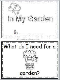 Free Garden Mini Book for Kindergarten and spring. This story describes some of the steps for planting and growing a garden. It is an easy to read and color book that can be enjoyed in the spring while teaching about plants and seeds. There are 12 pages in this mini book. You can print and …