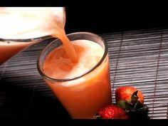 Receta del día: una fresca agua de piña con fresa