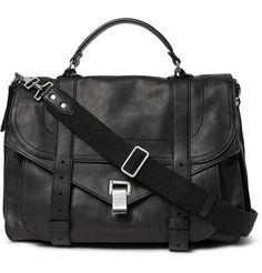 PS1 Extra Large Leather Messenger Bag   MR PORTER