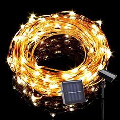 Solar LED String Lights Tasodin 19Ft6M 120LEDs Solar Powered Lighting Waterproof Bright Warm White Color Micro String Copper Wire Ultra Thin Rope Light * Read more  at the image link.