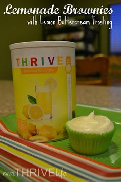 Julie Buckner helps you make THRIVE lemony brownies and frosting, just in time for summer!