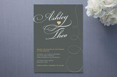 $2.34 Sweet Swirls Wedding Invitations by Deïaneira Des... | Minted