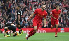 Liverpool's Adam Lallana inspires emphatic win over 10-man Hull
