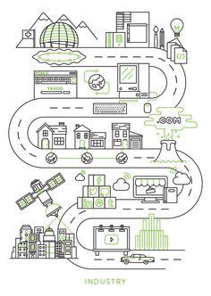 Best Graphics Full-poster Vic Industry Poster images on Designspiration Graphic Design Cv, Map Design, Game Ui Design, City Illustration, Business Illustration, Graphic Design Illustration, Standing Banner Design, Library Icon, Line Art Vector