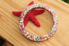 Yum Yummy Sweet Candy Sprinkle Resin Bangle by tranquilityy, $10.75