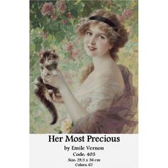 View Son petit chaton by Emile Vernon on artnet. Browse upcoming and past auction lots by Emile Vernon. Vernon, Vintage Pictures, Vintage Images, Vintage Prints, Vintage Art, She And Her Cat, Munier, Oil Painting Reproductions, Victorian Women