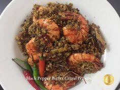 PATYSKITCHEN: UDANG MENTEGA CEREALS BLACK PEPPER Malay Food, Seafood Recipes, Cereal, Pork, Beef, Stuffed Peppers, Black, Kale Stir Fry, Meat
