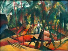 Forest walk (A. Macke, 1913, Privatsammlung)