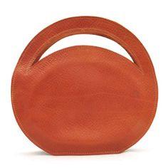 """CIRCLE $225.00 Description Leather Bag. Dimensions: W 9"""" x H 8.5"""" x D 2"""""""