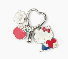 Hello Kitty Charm Key Ring: Apple