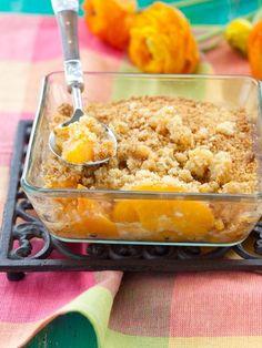 crumble pistache cardamome aux peches