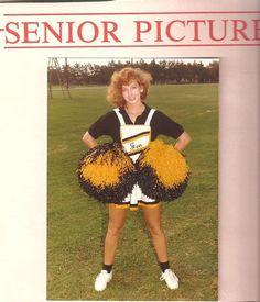 So old school. look how big the #poms are! #cheerleader #cheer #cheerleading