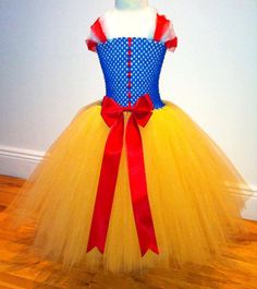 Snow White inspired princess tutu dress for girls for special occasion or birthday party costume on Etsy, $50.94