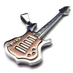 sac guitare | ... Guitare Musique – Amour – Acier Inoxydable – Fantaisie – pour