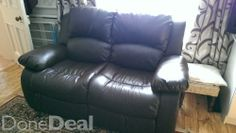 Two seater leather couch