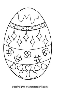 free printable easter egg coloring page Easter Egg Coloring Pages, Spring Coloring Pages, Colouring Pages, Coloring Pages For Kids, Easter Crafts, Crafts For Kids, Easter Egg Designs, Easter Printables, Easter Activities