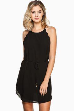 ShopSosie Style : Melinda Scalloped Dress